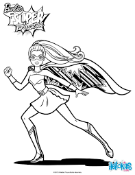 barbie super hero coloring pages hellokids com