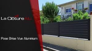 Lames Composite Pour Cloture by Pose D U0027une Cloture Aluminium Lacloturealu Fr Youtube