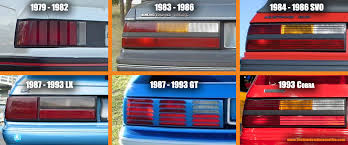 93 mustang lx tail lights mustang taillight guide the random automotive
