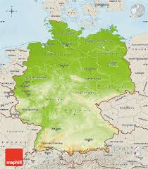 Maps Of Germany by Physical Map Of Germany Shaded Relief Outside