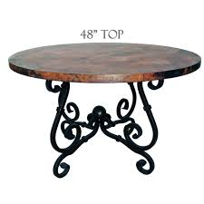 72 Inch Round Dining Table French Dining Table 48in Diameter Copper Top Timeless Wrought