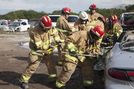 firefighters practice rescue operations with u0027jaws of life u0027 nasa