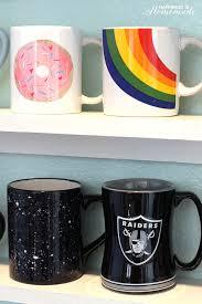 His And Her Mug Diy Mug Collection Display Shelves Happiness Is Homemade