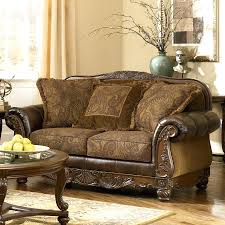 Ashley Furniture Leather Loveseat Ashley Furniture Tailya Sofa Loveseat Es Brown Leather And Premium