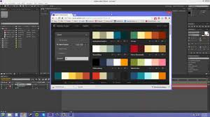 Color Scheme Picker after effects cs6 tutorial 61 choosing color schemes youtube