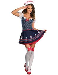 Xl Womens Halloween Costumes Navy Sailor Pin Ladies Fancy Dress Costume Halloween Party
