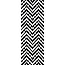 Black And White Striped Runner Rug Black Runner Rugs For Hallway Roselawnlutheran