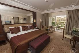 deluxe room showing interior design in a luxury hotel stock photo