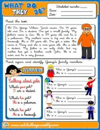 jobs and occupations worksheet 좋은 교육자료 pinterest about