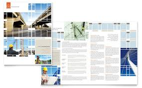 architecture brochure templates free civil engineers brochure template design