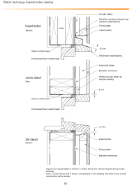 window in plan timber window zinc flashing section plan google search arch