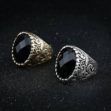 rings jewelry love images Antique carved flower wedding male rings for men jewelry love big jpg