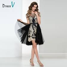 Black And Gold Lace Prom Dress Black Gold Short Prom Dresses Reviews Online Shopping Black Gold