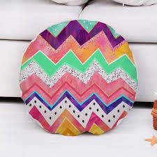 colorful geometric striped diameter 45cm round pillow cover home
