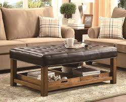Leather Square Ottoman Coffee Table Leather Square Ottoman Coffee Table For Idea 10 Kmworldblog