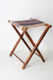 go home folding leather and wood camp stool tuoli pinterest