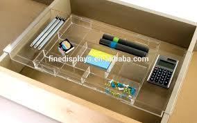 plastic desks organizer expandable acrylic office drawer organizer