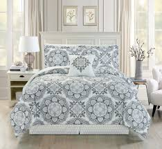 White Gray Comforter Furnitures White And Gray Comforter Furnitures Piece Queen