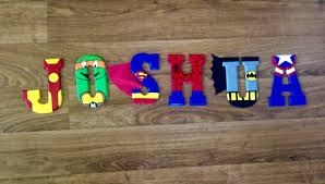 Superman Room Decor by Joshua Superhero Wooden Letters Ironman Teenage Mutant Ninja