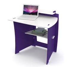 Pink Computer Desk Purple Computer Desk Made Of Particle Wood With White Top