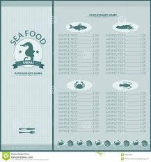 seafood restaurant menu stock vector image 46201630