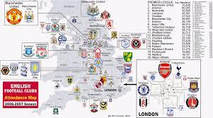England On Map Premier League Map The Premier League Season U201czoom Map U201d â