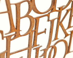 metal letters font etsy