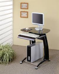 Narrow Desks For Small Spaces Small Computer Desk With Scanner And Printer Tray Corner