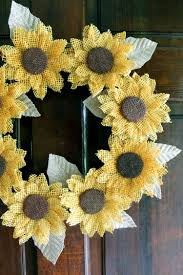 burlap sunflower wreath burlap sunflower wreath the country chic cottage