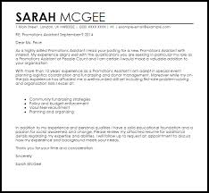 Resume For Promotion Sample by Promotions Assistant Cover Letter Sample Livecareer