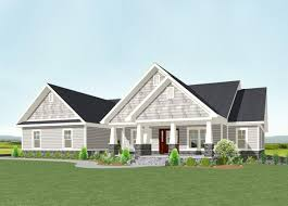 2200 square foot house plan 77615fb one level shingle style house plan craftsman and