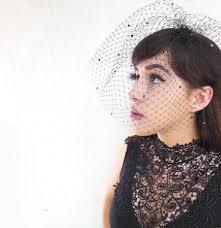 black veil swarovski crystal birdcage style netted halloween