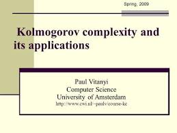 kolmogorov complexity and its applications paul vitanyi cwi