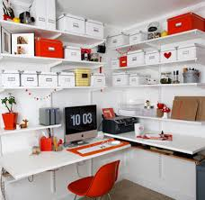 furniture stunning white home office design with wall mounted