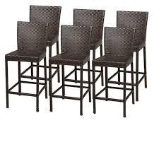 out door bar stools tkc napa outdoor wicker bar stools in espresso set of 6