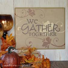 we gather together thanksgiving sign grant