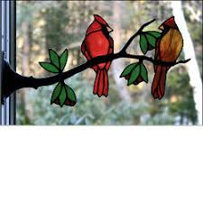 stained glass birds on a branch stained glass express