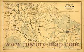 Map Of Louisiana by Civil War Map