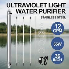 uv light water treatment vevor ultraviolet light water purifier whole house uv sterilizer 12