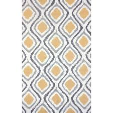 Modern Ikat Rug Palm Algiers Hooked Modern Ikat Wool Area Rug 7 6 X 9