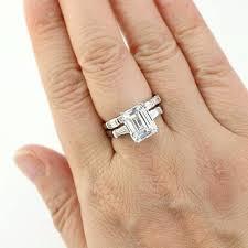emerald cut wedding set emerald cut wedding ring set emerald cut diamond wedding ring sets