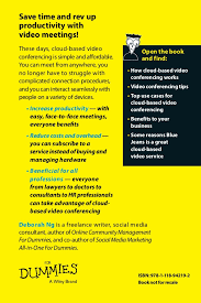 Help Desk For Dummies Cloud Based Conferencing For Dummies