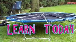 backyard trampoline assembly youtube