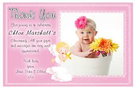 10 personalised christening baptism thank you photo cards n185