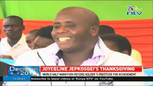 joyceline jepkosgei holds thanksgiving ceremony