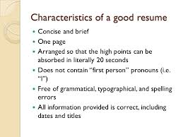 Resume First Person Upgrading Your Resume For On Campus Interviews Oci Ppt Video