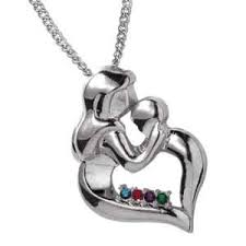 birthstone necklaces for mothers silvertone s embrace birthstone necklace 36067 limoges