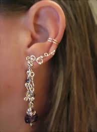 conch piercing cuff stunning no piercing cartilage earring amethyst cascade handmade