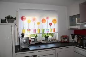 gardine küche rollo mit blumen für küche rollo digitaldruck
