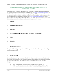 Blank Resume To Fill In How To Fill Up A Resume How To Make A Perfect Resume Example